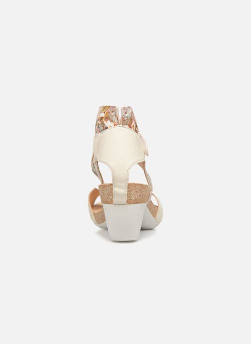 Sandalias Think! Traudi 84579 Blanco vista lateral derecha
