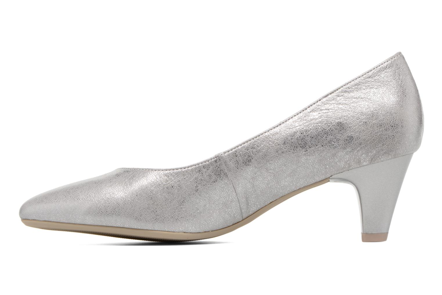 High heels Caprice Sarina Silver front view