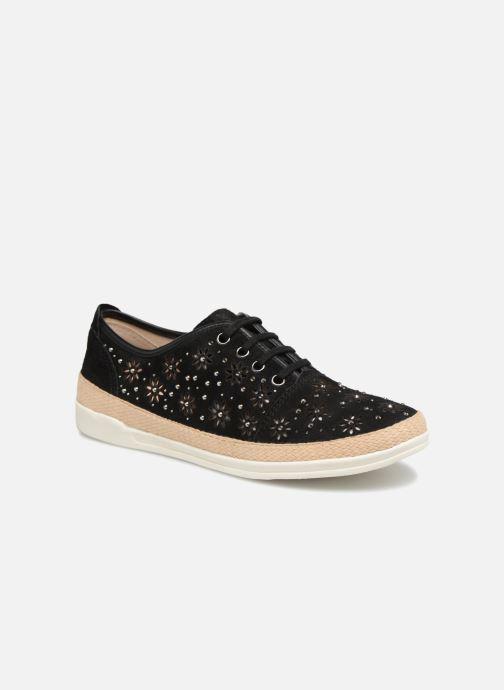 Sneakers Caprice Ludina Zwart detail