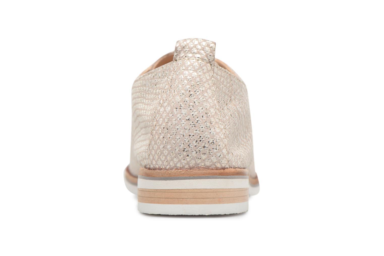 Chaussures à lacets Caprice Hedda Or et bronze vue droite