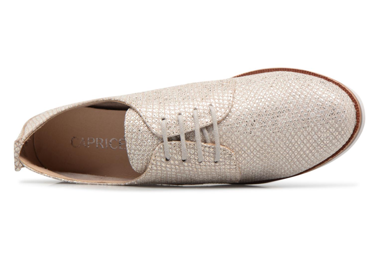 Chaussures à lacets Caprice Hedda Or et bronze vue gauche