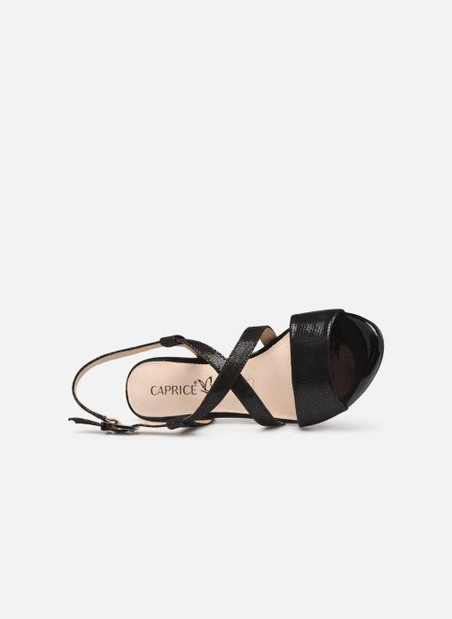 Sandales et nu-pieds Caprice Edison Noir vue gauche