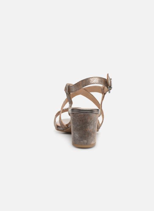 Sandales et nu-pieds Caprice Edison Beige vue droite