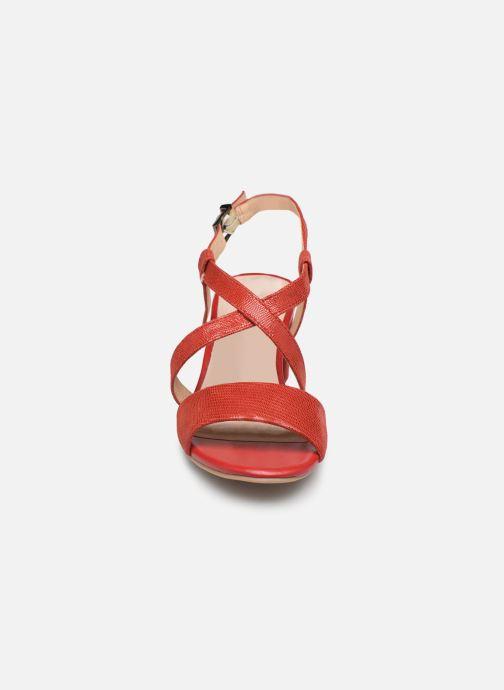 Sandales et nu-pieds Caprice Edison Rouge vue portées chaussures