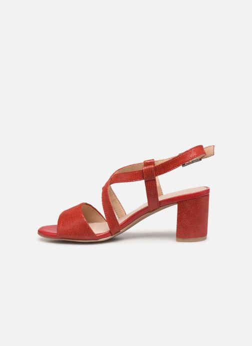 Sandales et nu-pieds Caprice Edison Rouge vue face