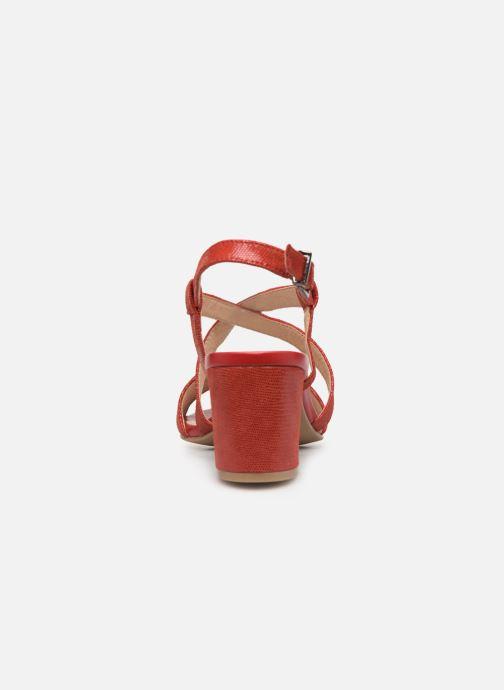 Sandales et nu-pieds Caprice Edison Rouge vue droite