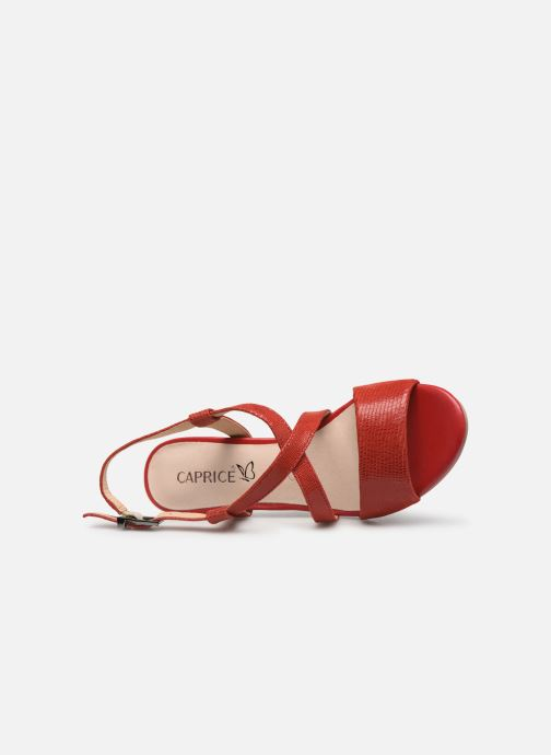 Sandales et nu-pieds Caprice Edison Rouge vue gauche