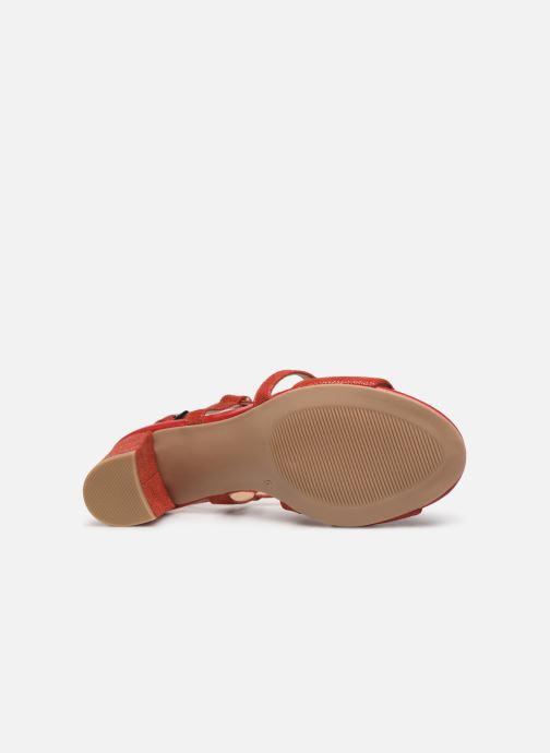 Sandales et nu-pieds Caprice Edison Rouge vue haut