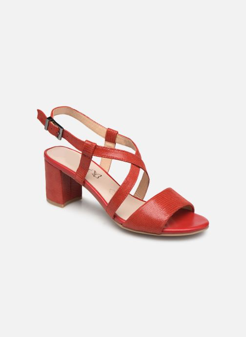 Sandales et nu-pieds Caprice Edison Rouge vue détail/paire