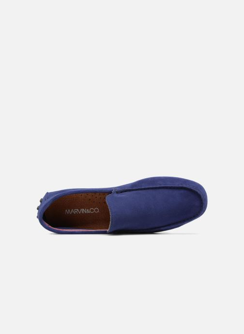 Mocassins Marvin&Co Suttino Bleu vue gauche
