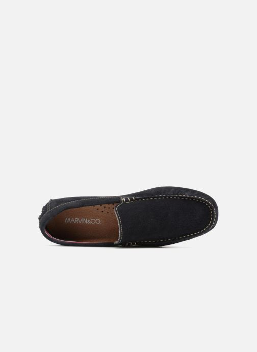 Slipper Marvin&Co Suttino blau ansicht von links