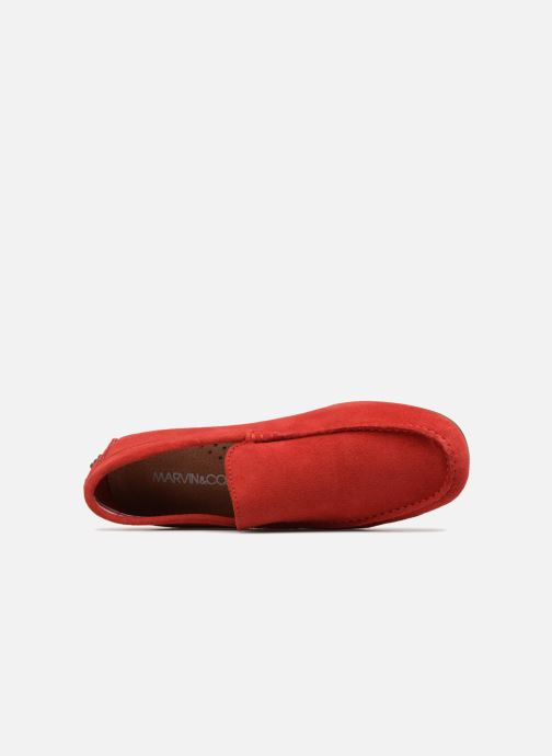 Mocassins Marvin&Co Suttino Rouge vue gauche