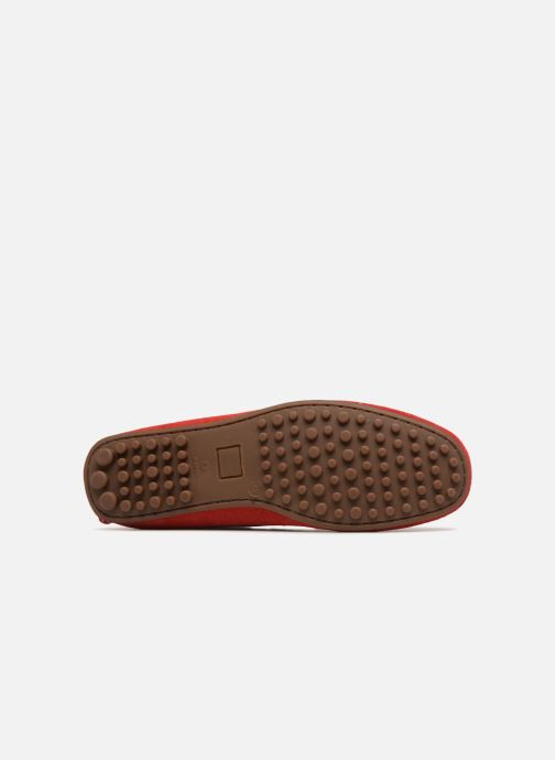 Mocassins Marvin&Co Suttino Rouge vue haut