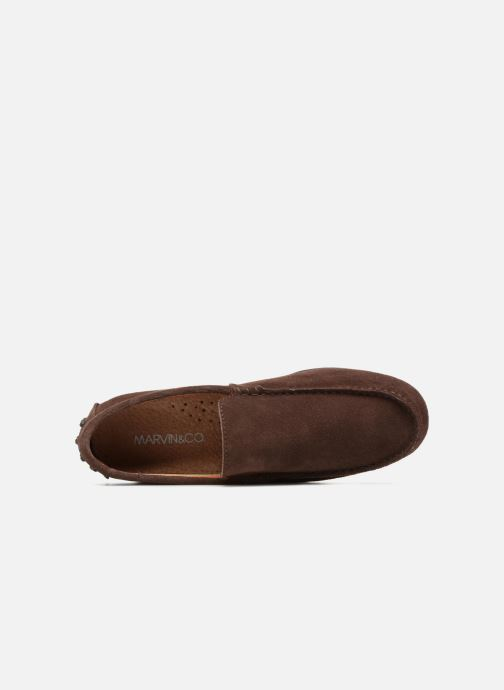 Loafers Marvin&co Suttino Brown view from the left