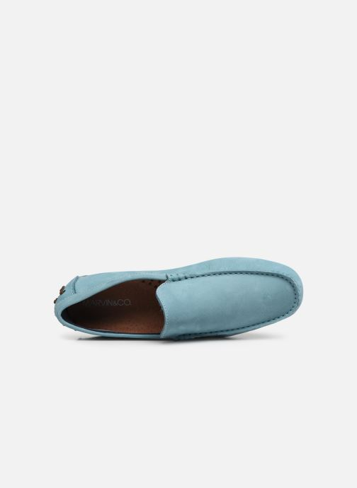 Mocasines Marvin&Co Suttino Azul vista lateral izquierda