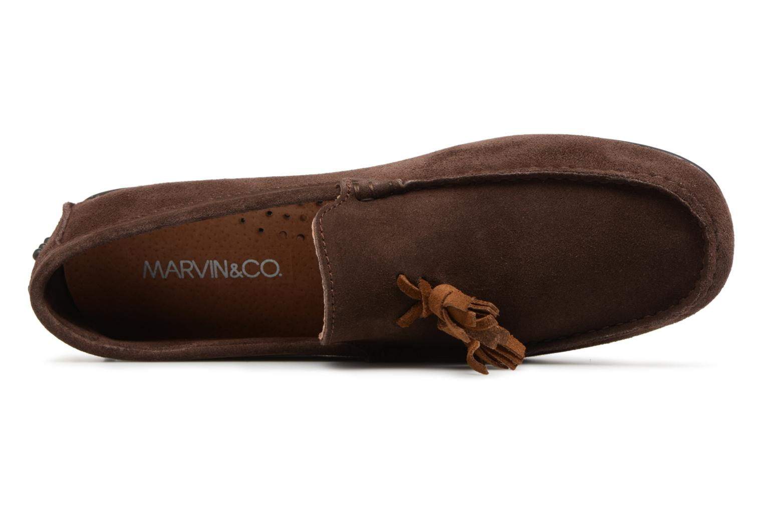 Mocassins Marvin&Co Saddington Marron vue gauche