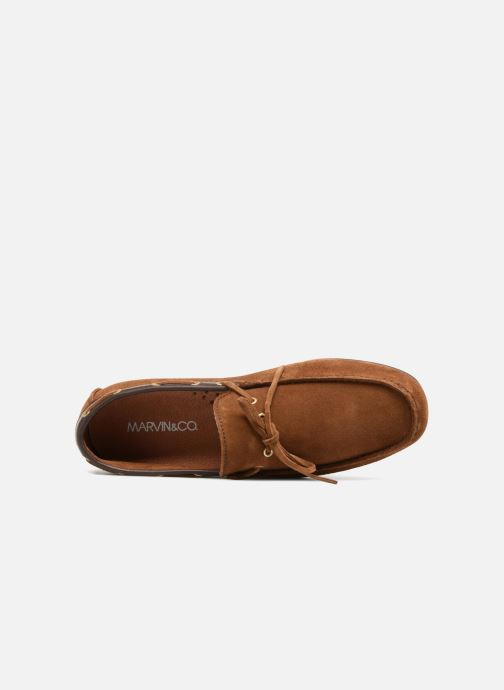 Mocasines Marvin&Co Stanford Marrón vista lateral izquierda