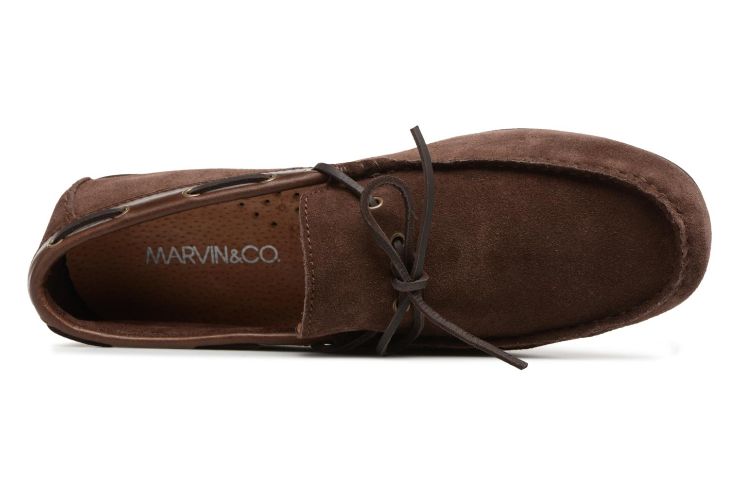 Loafers Marvin&co Stanford Brown view from the left