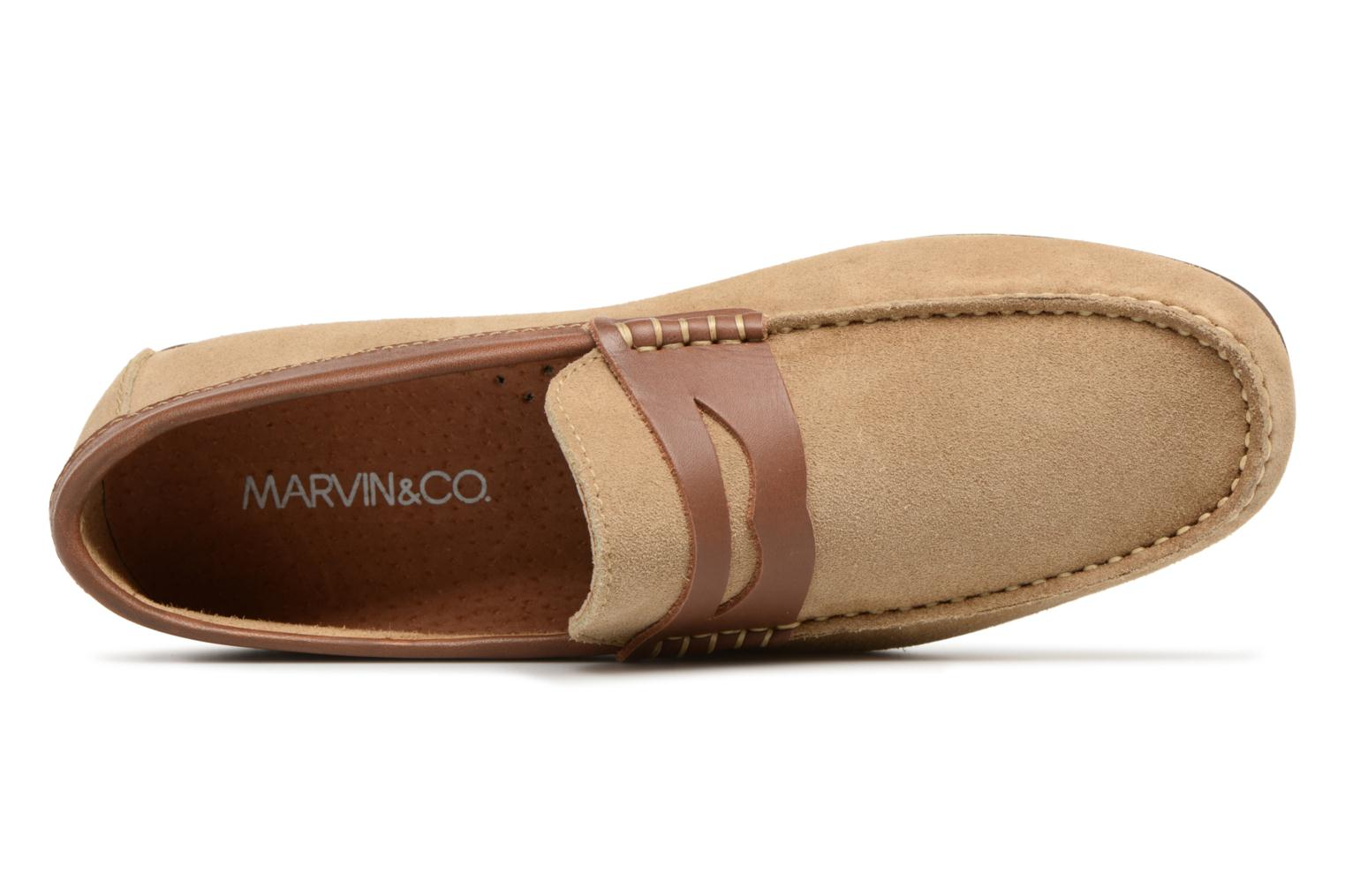 Loafers Marvin&co Scotland Beige view from the left