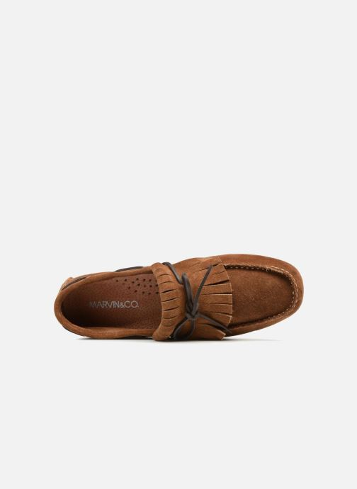 Mocassins Marvin&Co Sfringe Marron vue gauche