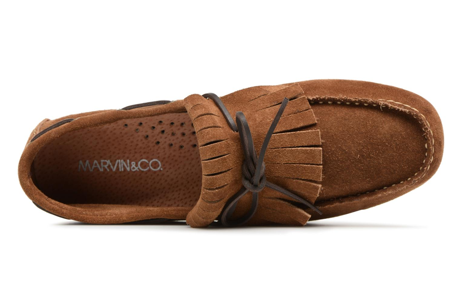 Loafers Marvin&co Sfringe Brown view from the left