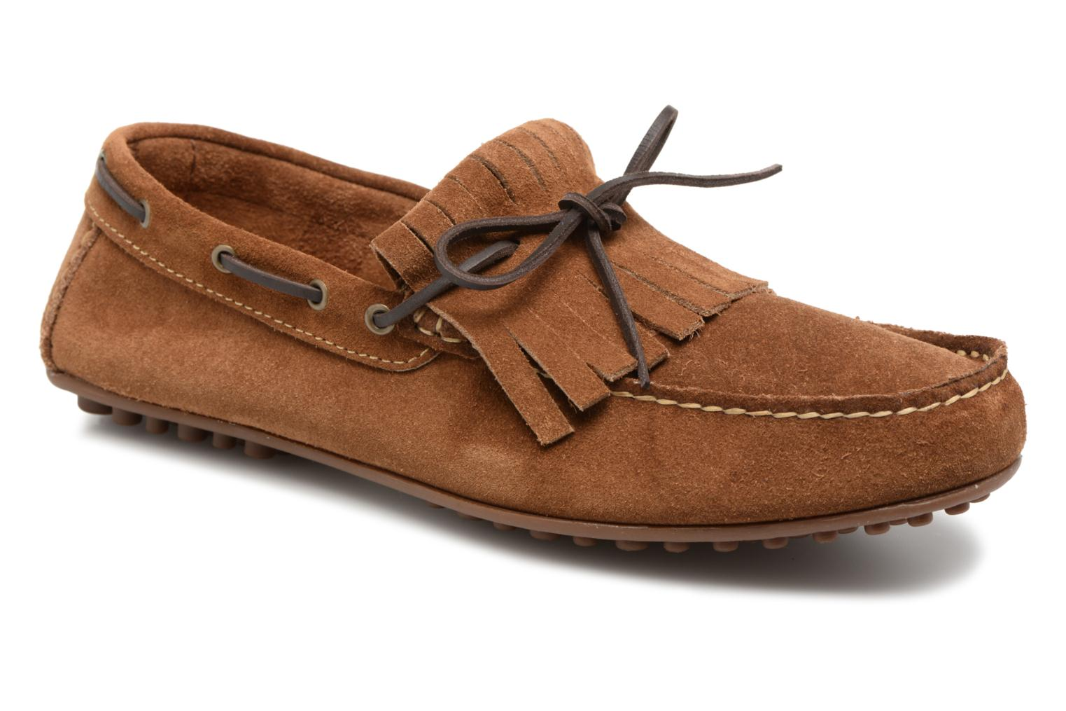 Loafers Marvin&co Sfringe Brown detailed view/ Pair view