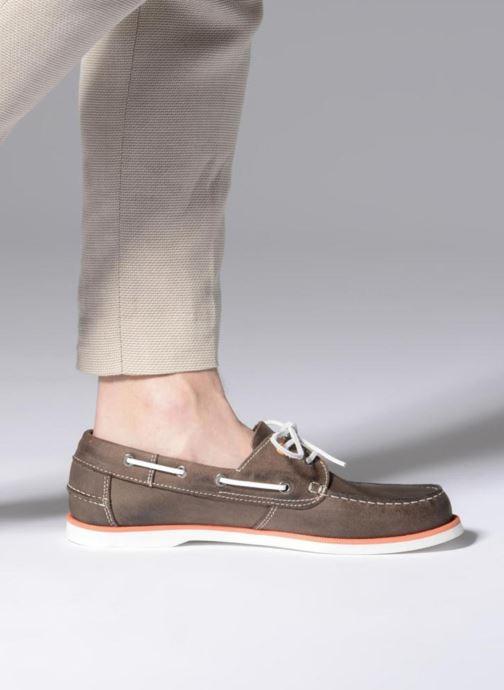 Chaussures à lacets Marvin&Co Sailboat Marron vue bas / vue portée sac