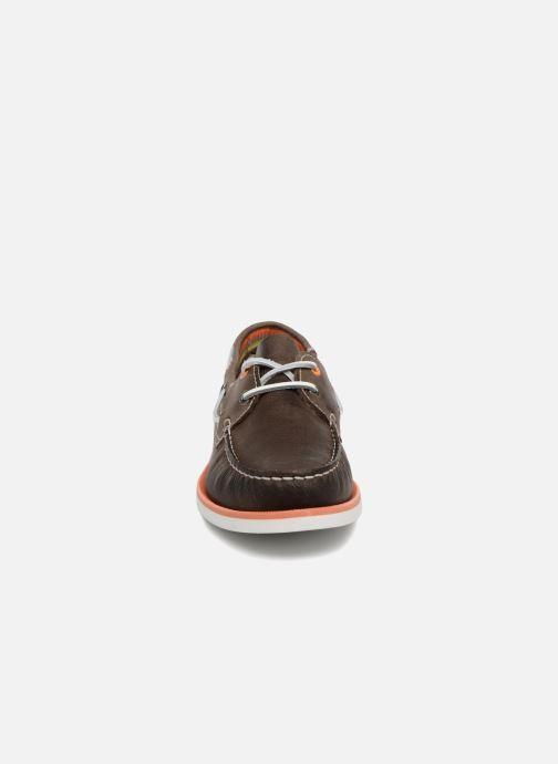 Scarpe con lacci Marvin&Co Sailboat Marrone modello indossato