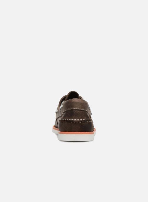 Zapatos con cordones Marvin&Co Sailboat Marrón vista lateral derecha