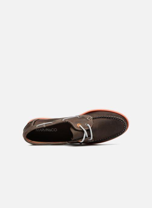 Scarpe con lacci Marvin&Co Sailboat Marrone immagine sinistra