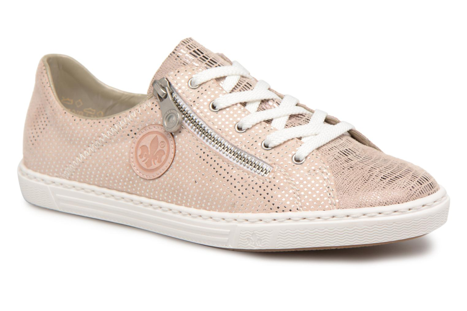 Baskets Rieker Brielle L0943 Rose vue détail/paire