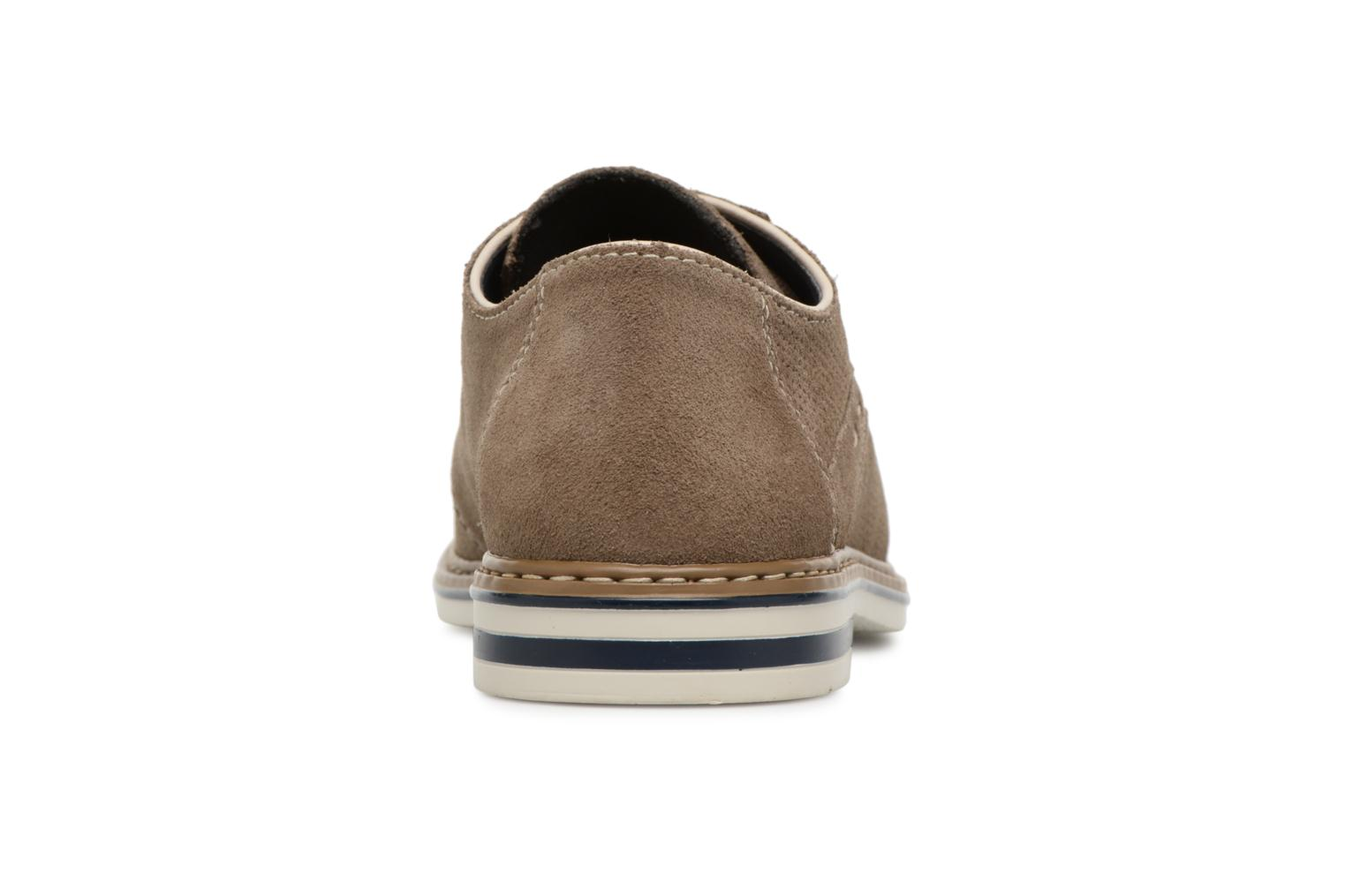 Lace-up shoes Rieker Newt B1435 Grey view from the right