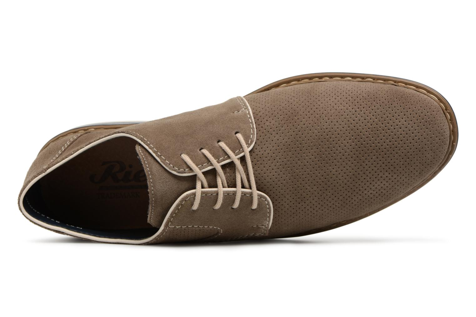 Lace-up shoes Rieker Newt B1435 Grey view from the left