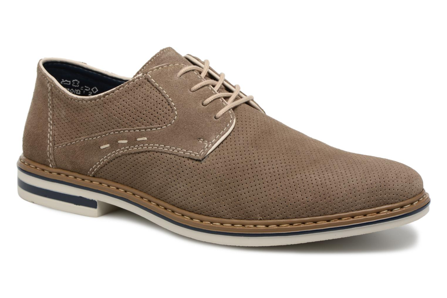 Lace-up shoes Rieker Newt B1435 Grey detailed view/ Pair view