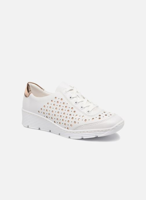 Trainers Rieker Carlee 58702 White detailed view/ Pair view