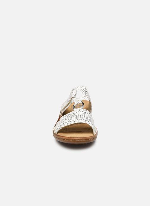 Mules et sabots Rieker Holly 608P9 Argent vue portées chaussures