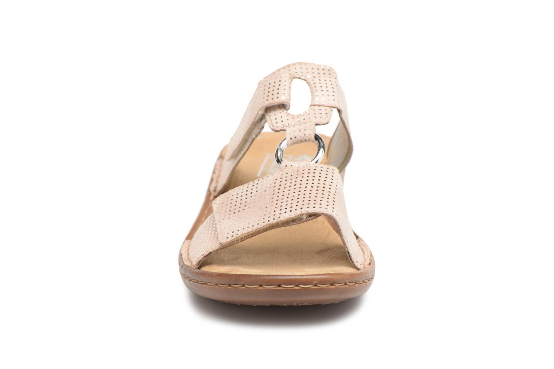 Träskor & clogs Rieker Holly 608P9 Beige bild av skorna på