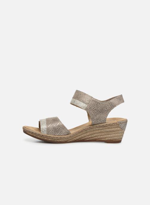 Sandales et nu-pieds Rieker Kathy 62470 Argent vue face