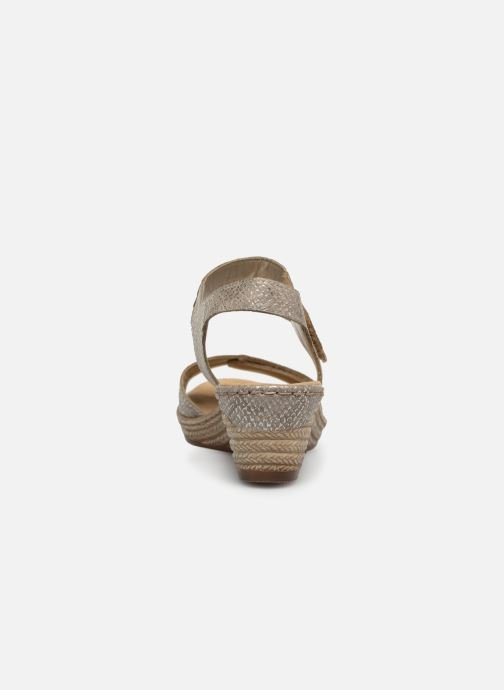 Sandales et nu-pieds Rieker Kathy 62470 Argent vue droite
