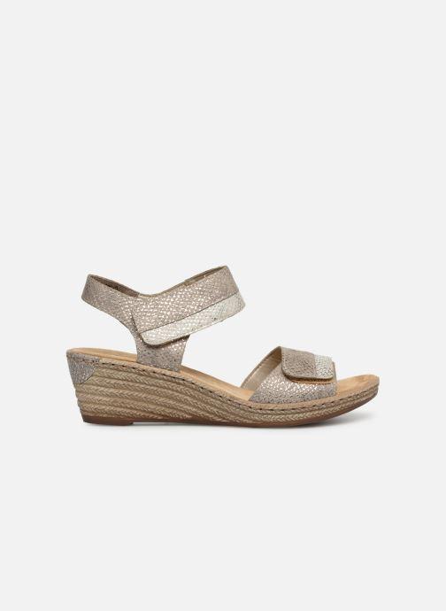 Sandales et nu-pieds Rieker Kathy 62470 Argent vue derrière
