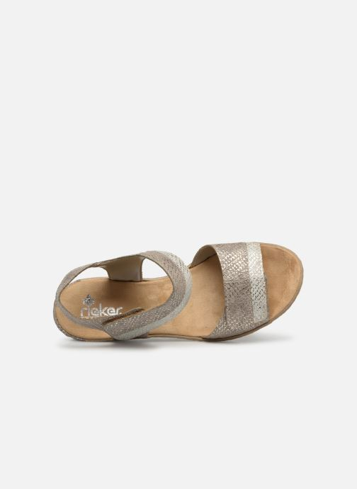 Sandales et nu-pieds Rieker Kathy 62470 Argent vue gauche