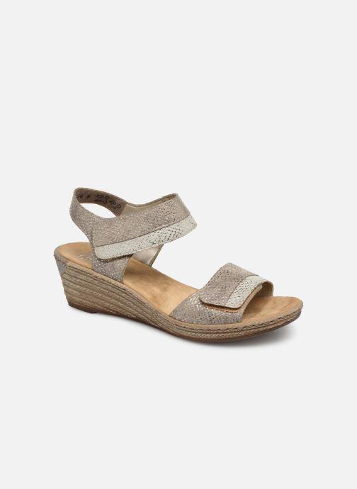 Sandales et nu-pieds Rieker Kathy 62470 Argent vue détail/paire