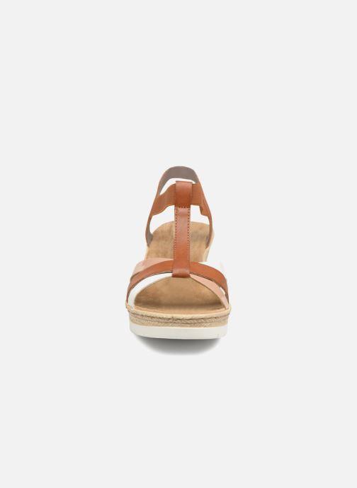 Sandalen Rieker Jasmyn 61995 braun schuhe getragen