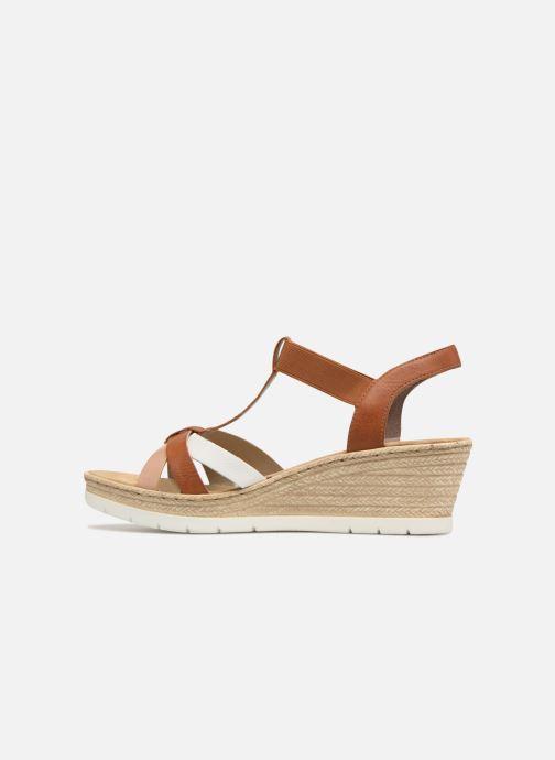 Sandales et nu-pieds Rieker Jasmyn 61995 Marron vue face