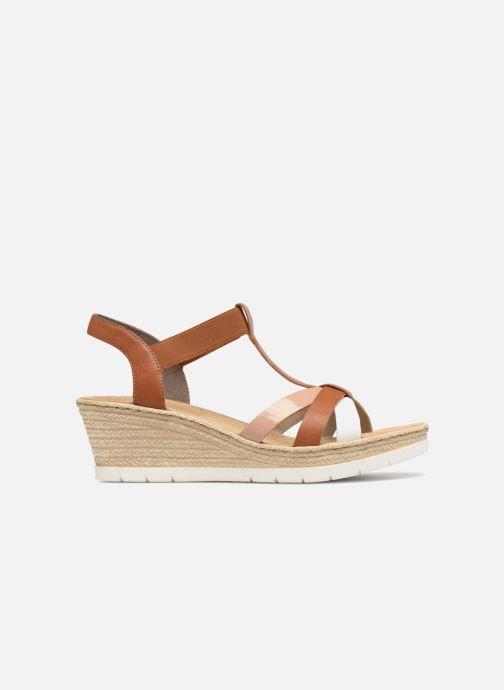 Sandales et nu-pieds Rieker Jasmyn 61995 Marron vue derrière
