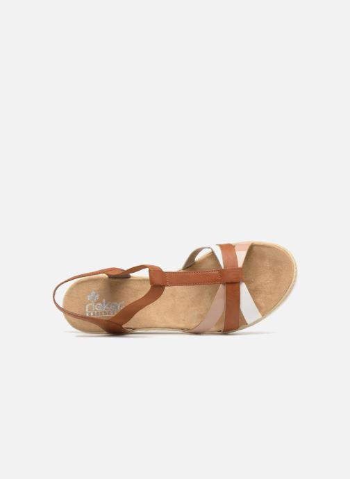 Sandales et nu-pieds Rieker Jasmyn 61995 Marron vue gauche