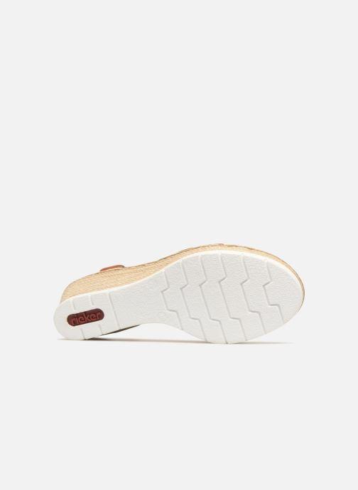Sandales et nu-pieds Rieker Jasmyn 61995 Marron vue haut