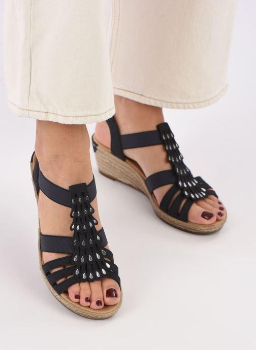 Sandales et nu-pieds Rieker Julissa Bleu vue bas / vue portée sac