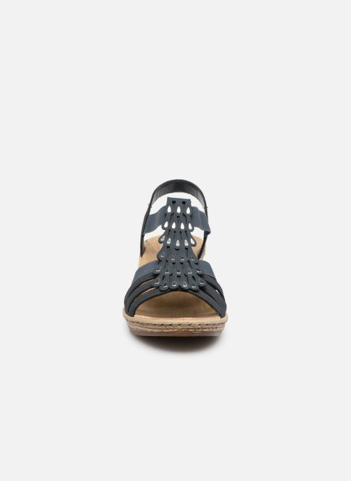 Sandales et nu-pieds Rieker Julissa 62436 Bleu vue portées chaussures