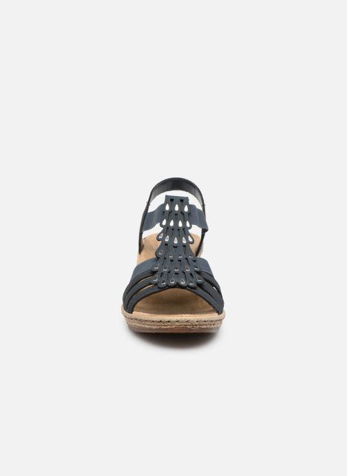 Sandales et nu-pieds Rieker Julissa Bleu vue portées chaussures